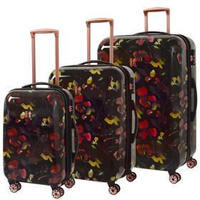 IT Luggage Warrior Dark Floral Print zestaw walizek / komplet / set /
