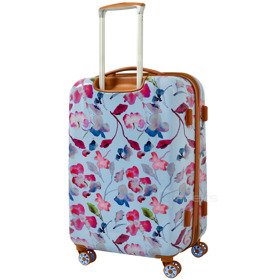 IT Luggage Warrior Blue & Pink Summer Floral Print średnia walizka M