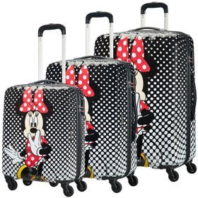 American Tourister Disney Legends zestaw walizek / komplet / set / Minnie Mouse Polka Dot