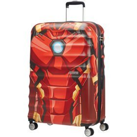 American Tourister Wavebreaker Disney duża walizka 77 cm / Iron Man Close-Up