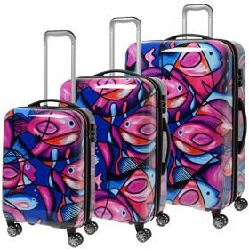 IT Luggage Imprint zestaw walizek / komplet / set / Painted Fish